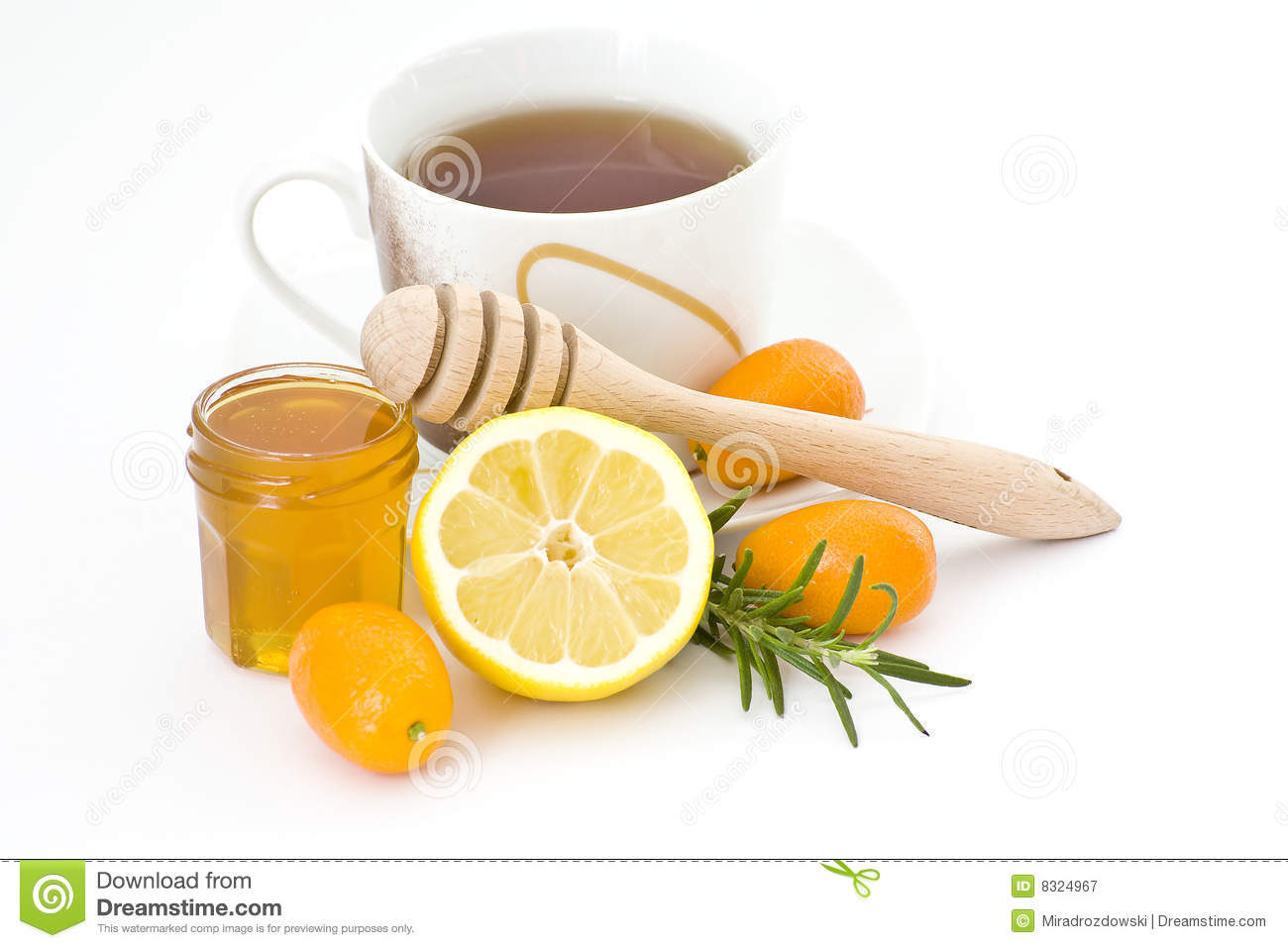 Tea, Honey And Lemon Royalty Free Stock Photography - Image: 8324967