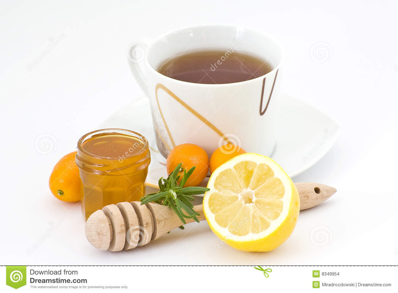 Tea, Honey And Lemon Stock Images - Image: 8349954