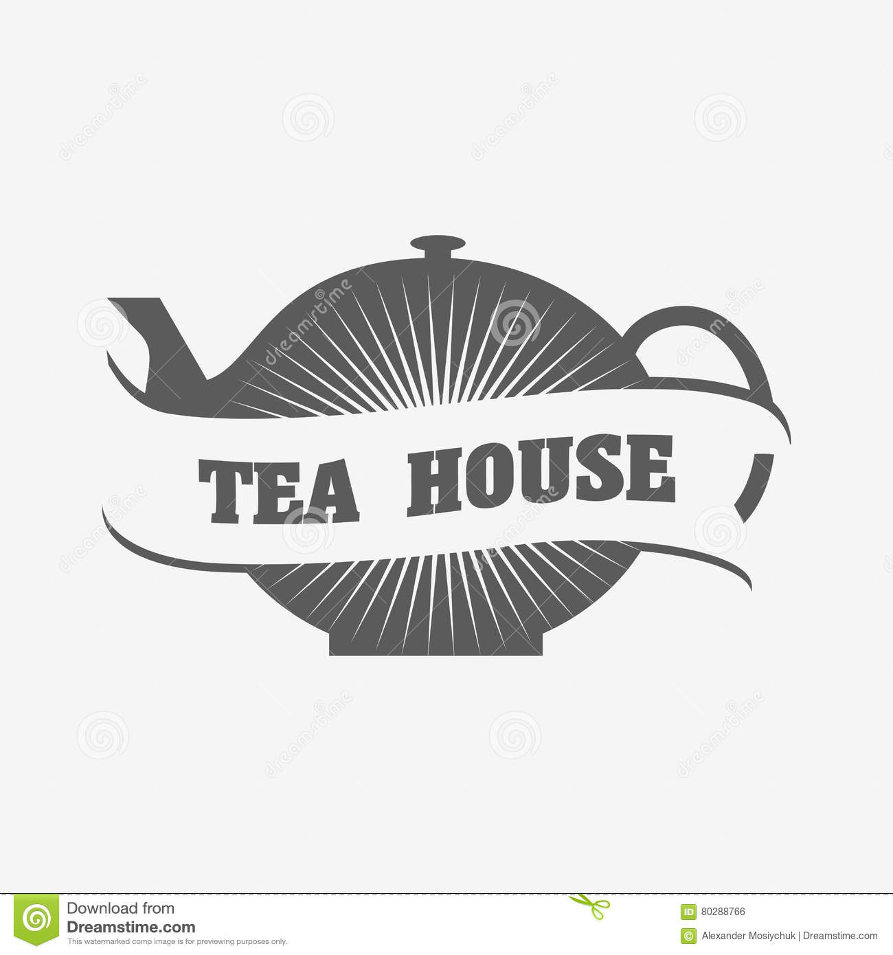 Tea House Logo Or Badge Template Stock Vector - Illustration of ...