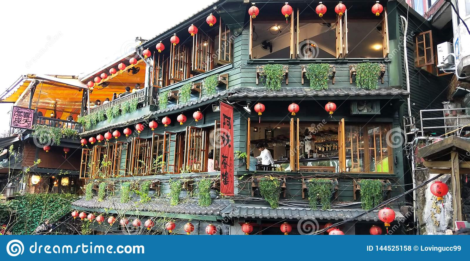 A tea house of Taiwan