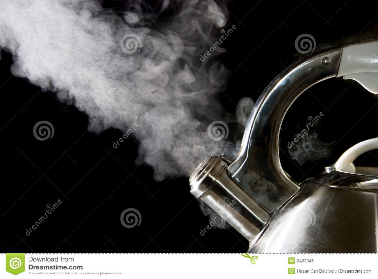 Boiling Water Steam Tea kettle with boiling water
