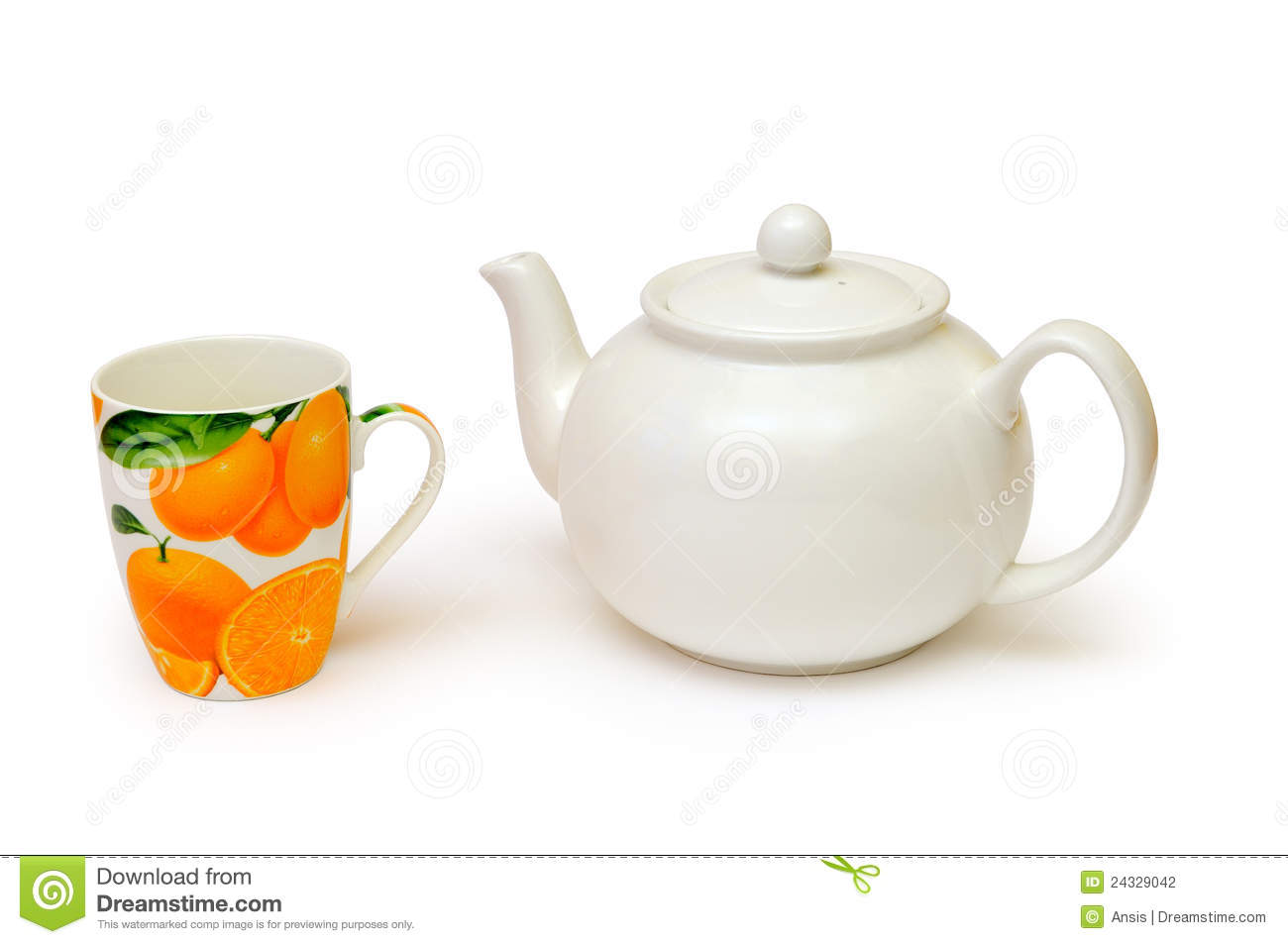Tea Kettle And Cup Stock Photography Image 24329042