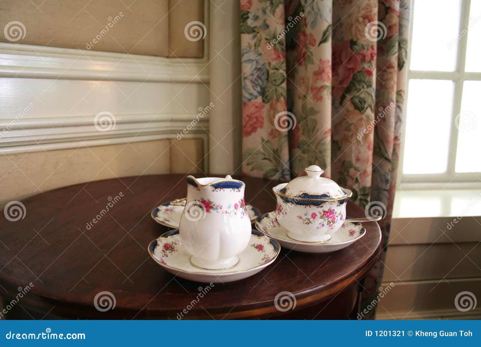 Tea laid out
