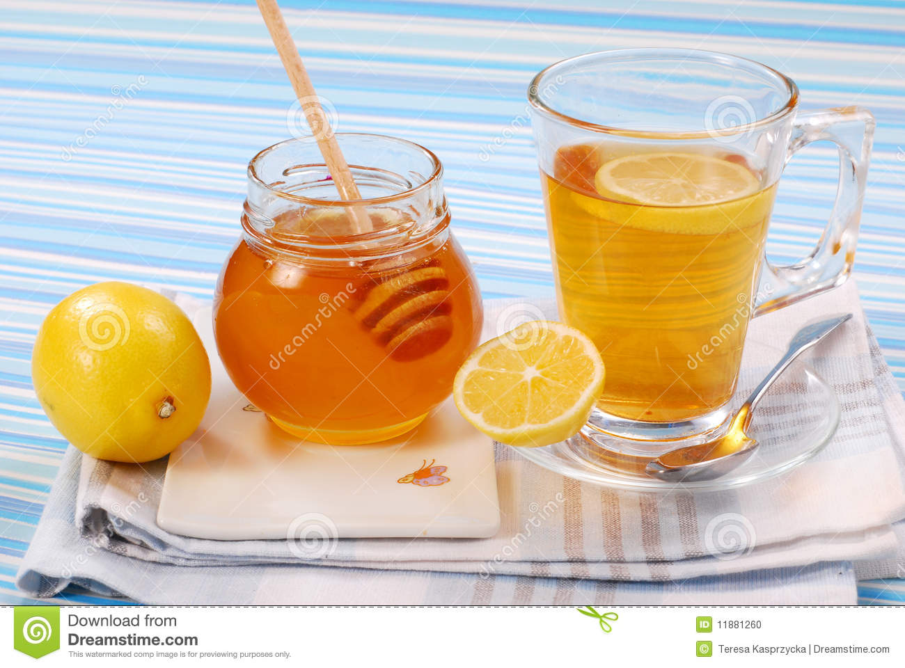 Tea With Lemon And Honey Stock Photo - Image: 11881260