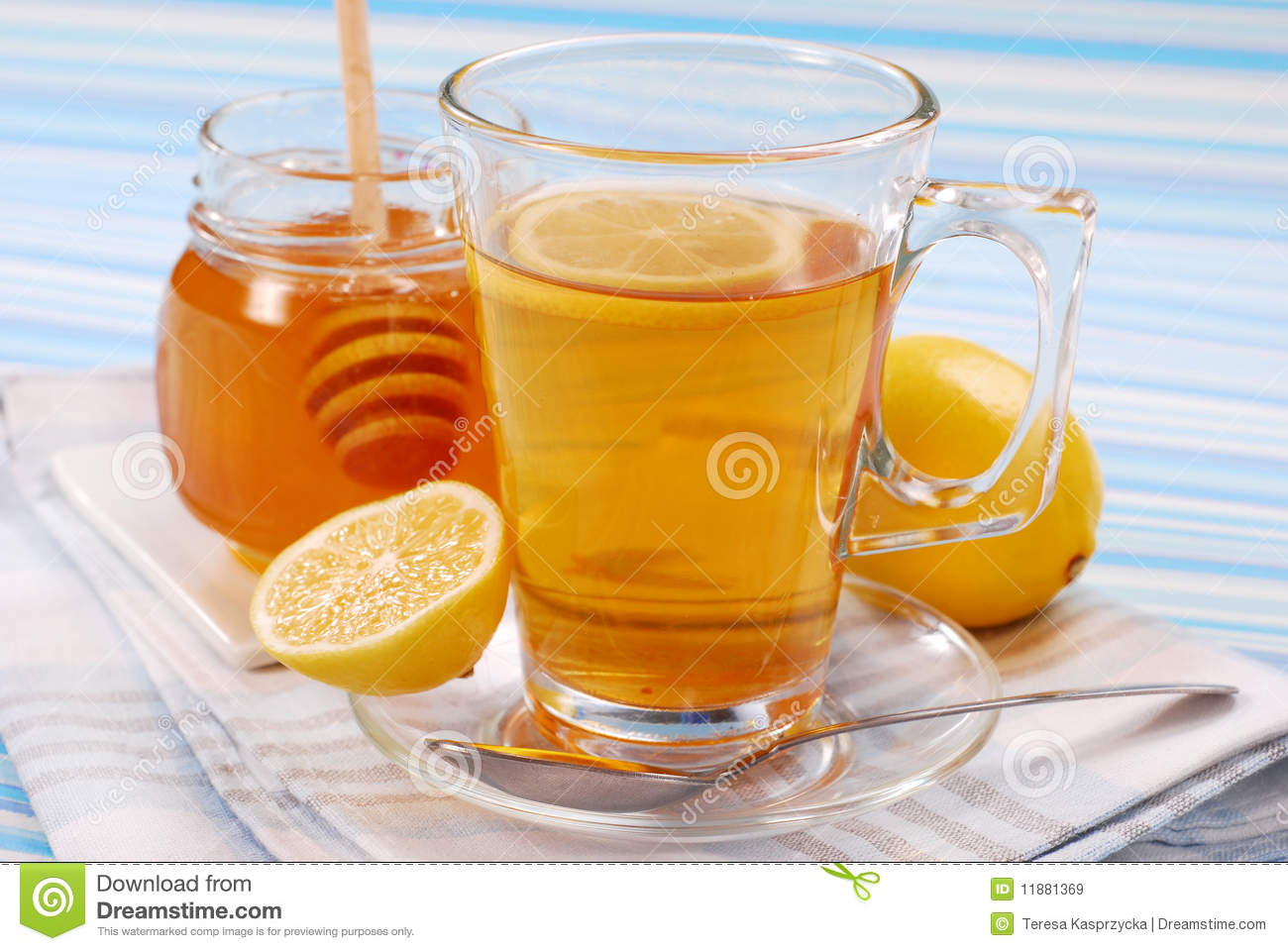 Tea With Lemon And Honey Royalty Free Stock Images - Image: 11881369