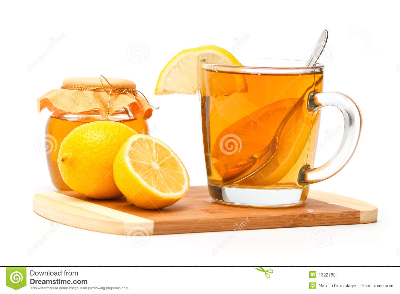Tea With Lemon And Honey Stock Image - Image: 13227881