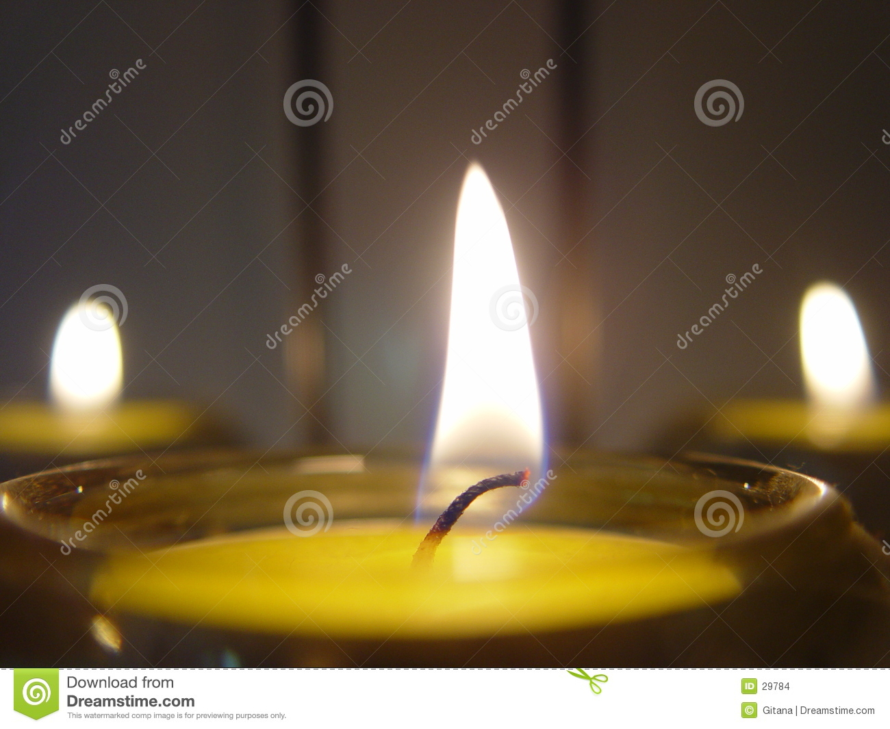 Download Tea lights or candles stock photo. Image of evening, dark - 29784