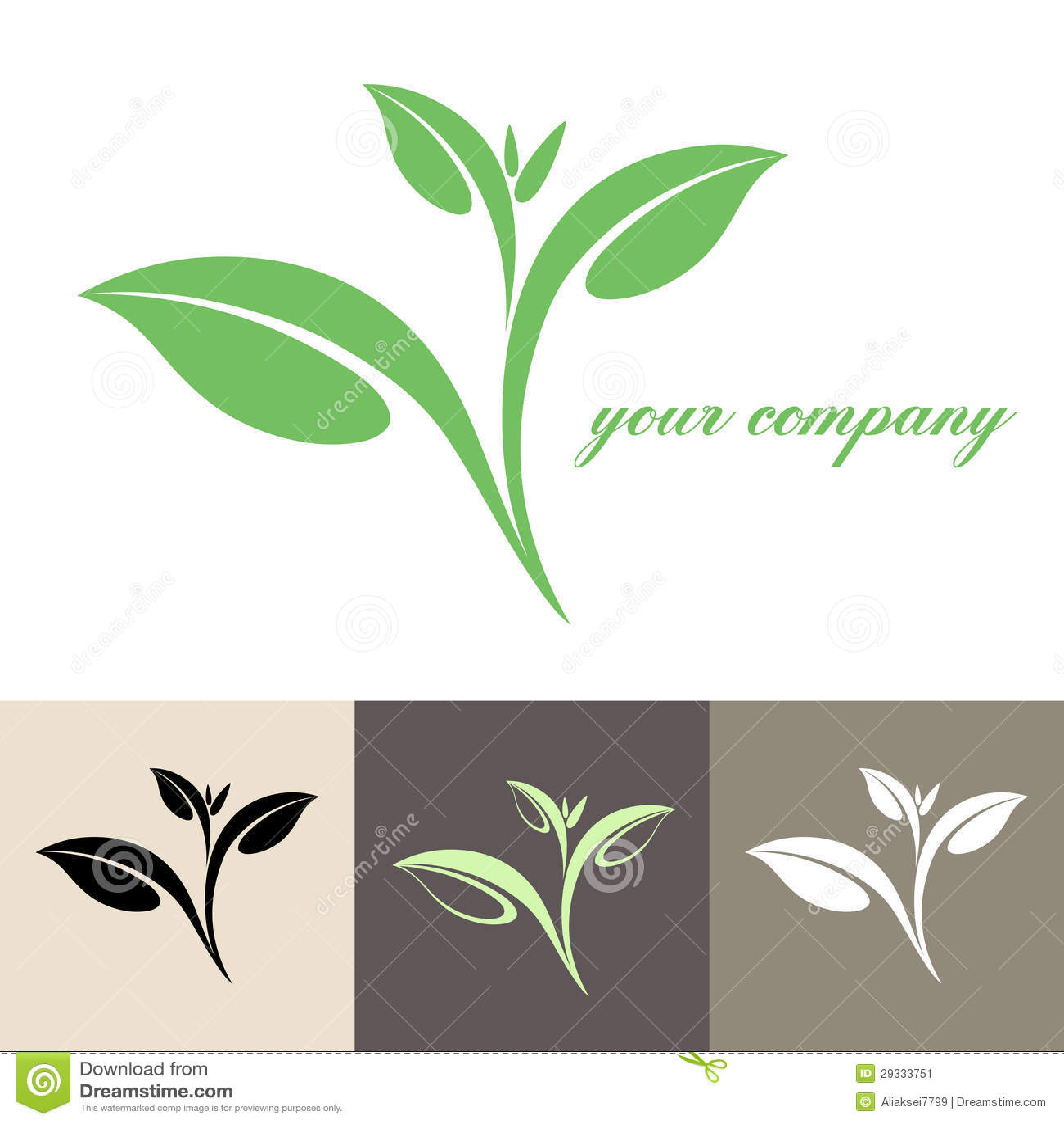 Tea. Logo. Vector illustration (EPS 10) + alternate file (CDR 10).