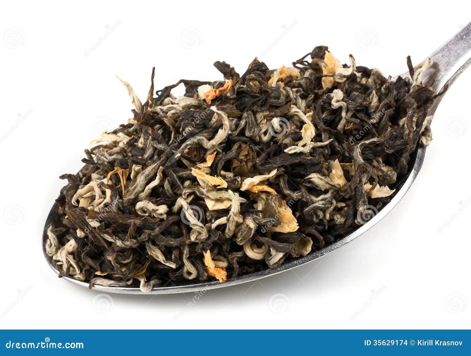 Tea Loose Dried Tea Leaves Stock Images