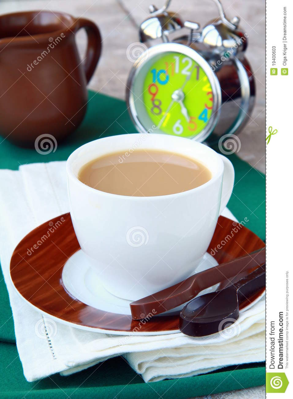 Download Tea With Milk In A White Cup Stock Image - Image of fresh, english: 19400603