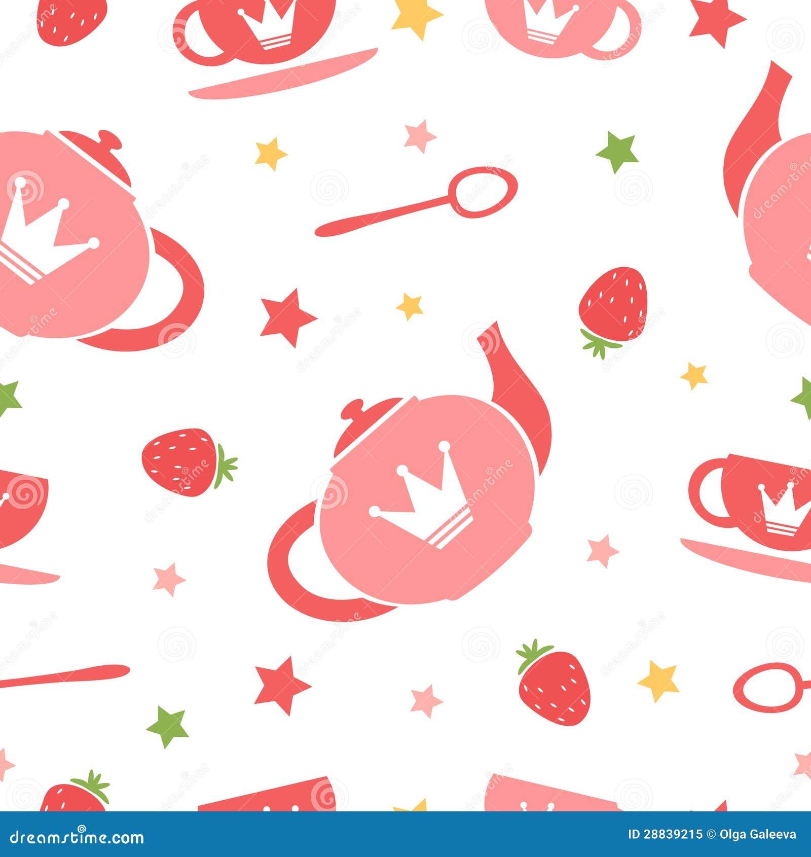 Tea party background royalty free stock photo image 28839215 - Royalty Free Stock Photo Background Cute Seamless Tea