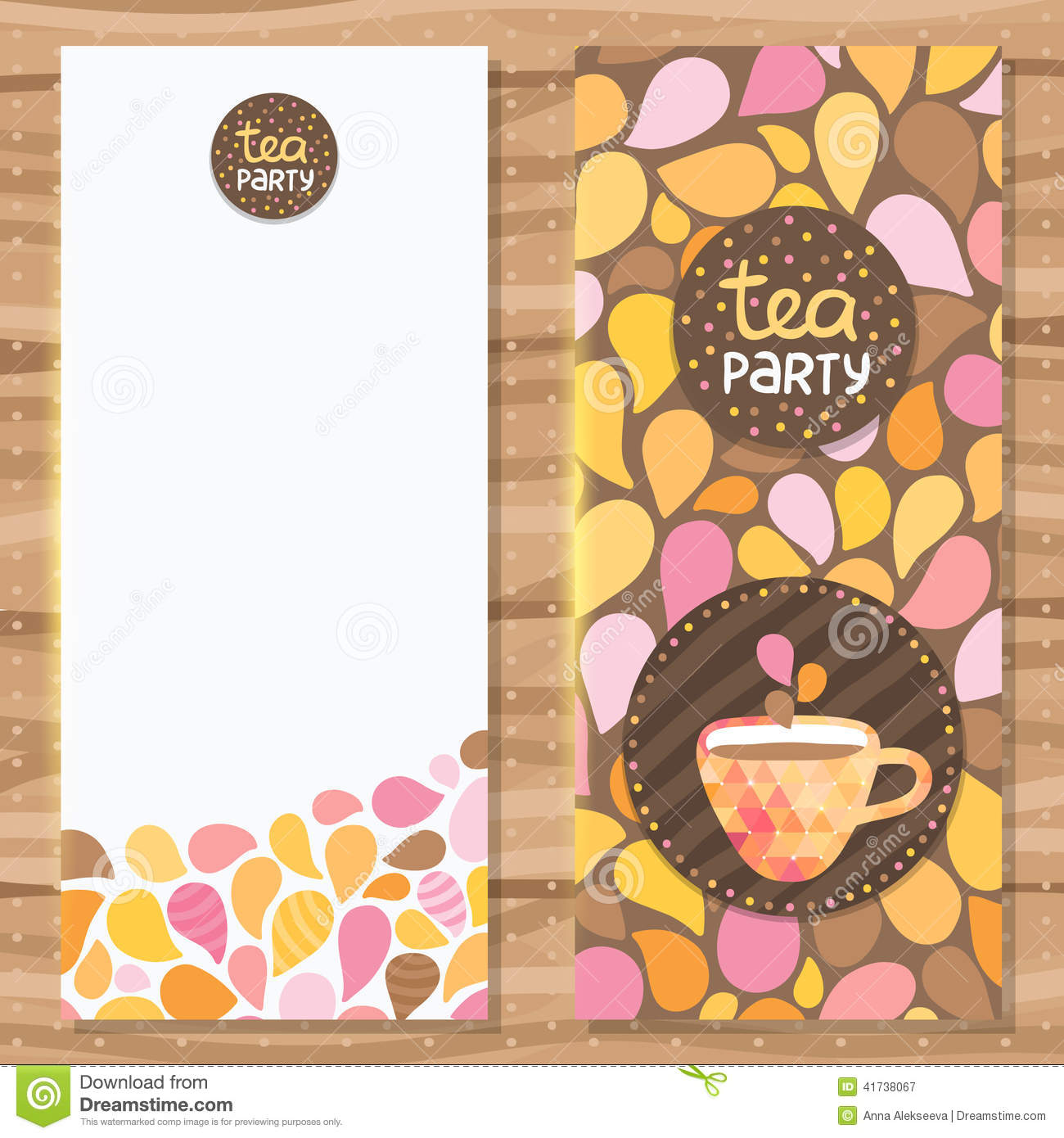 tea party brochure template stock vector illustration of graphic