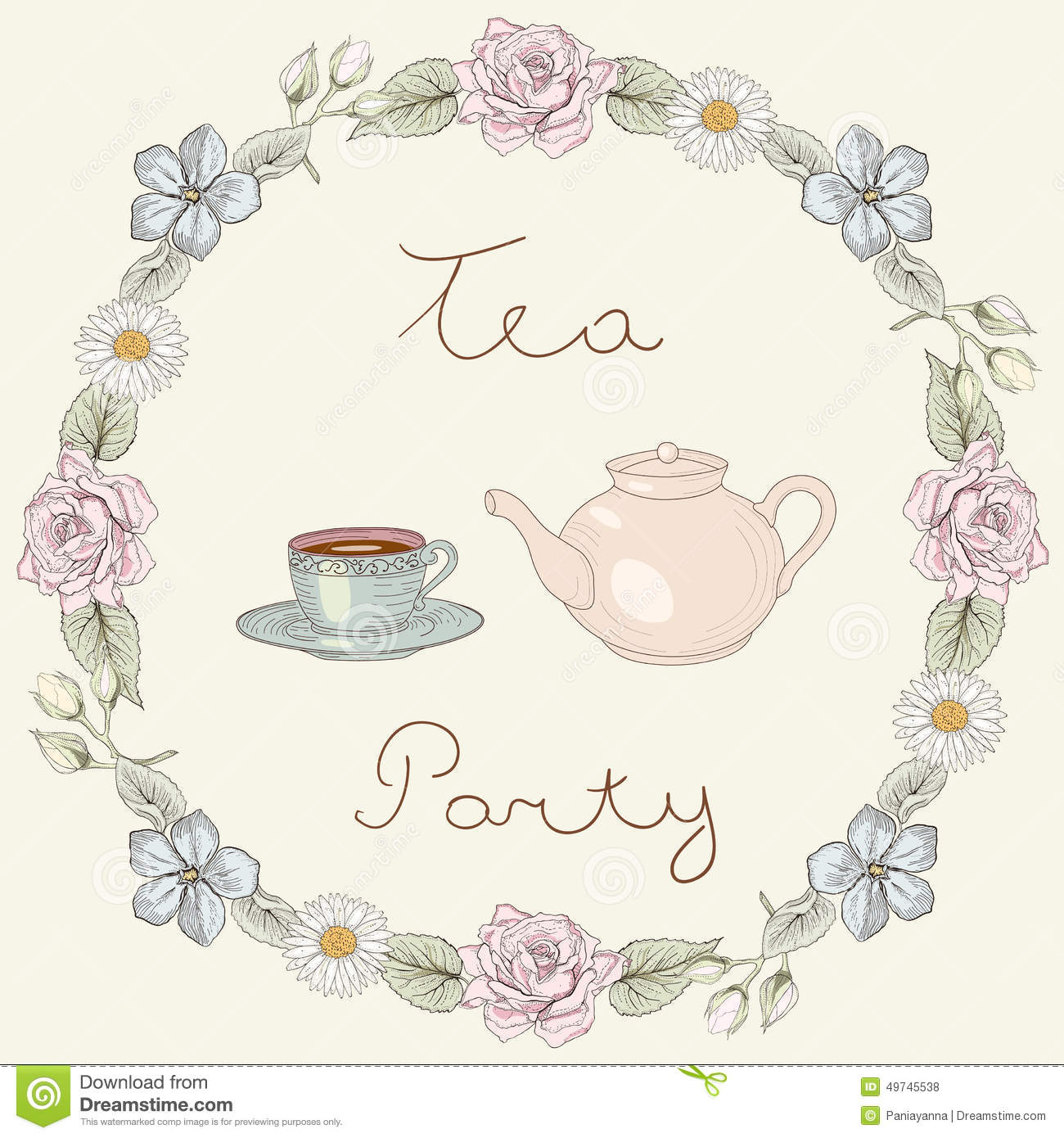 Victorian Tea Party Clip Art – Cliparts