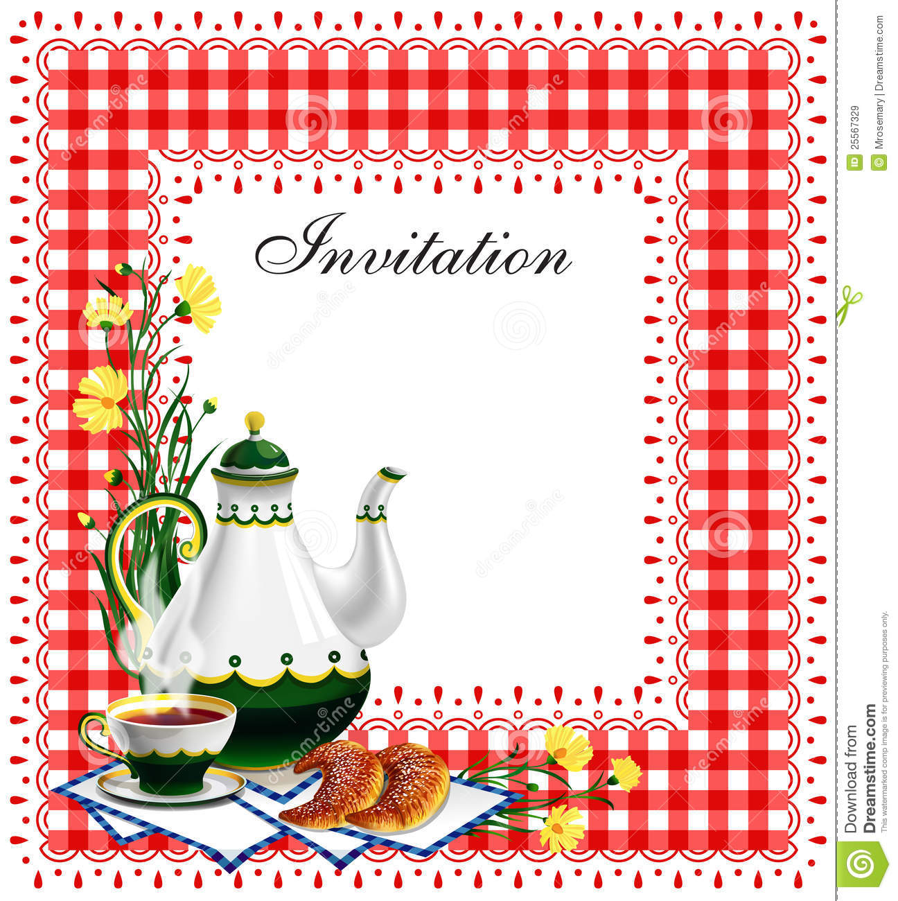 Tea party invitation stock vector illustration of date 25567329 download comp stopboris Images