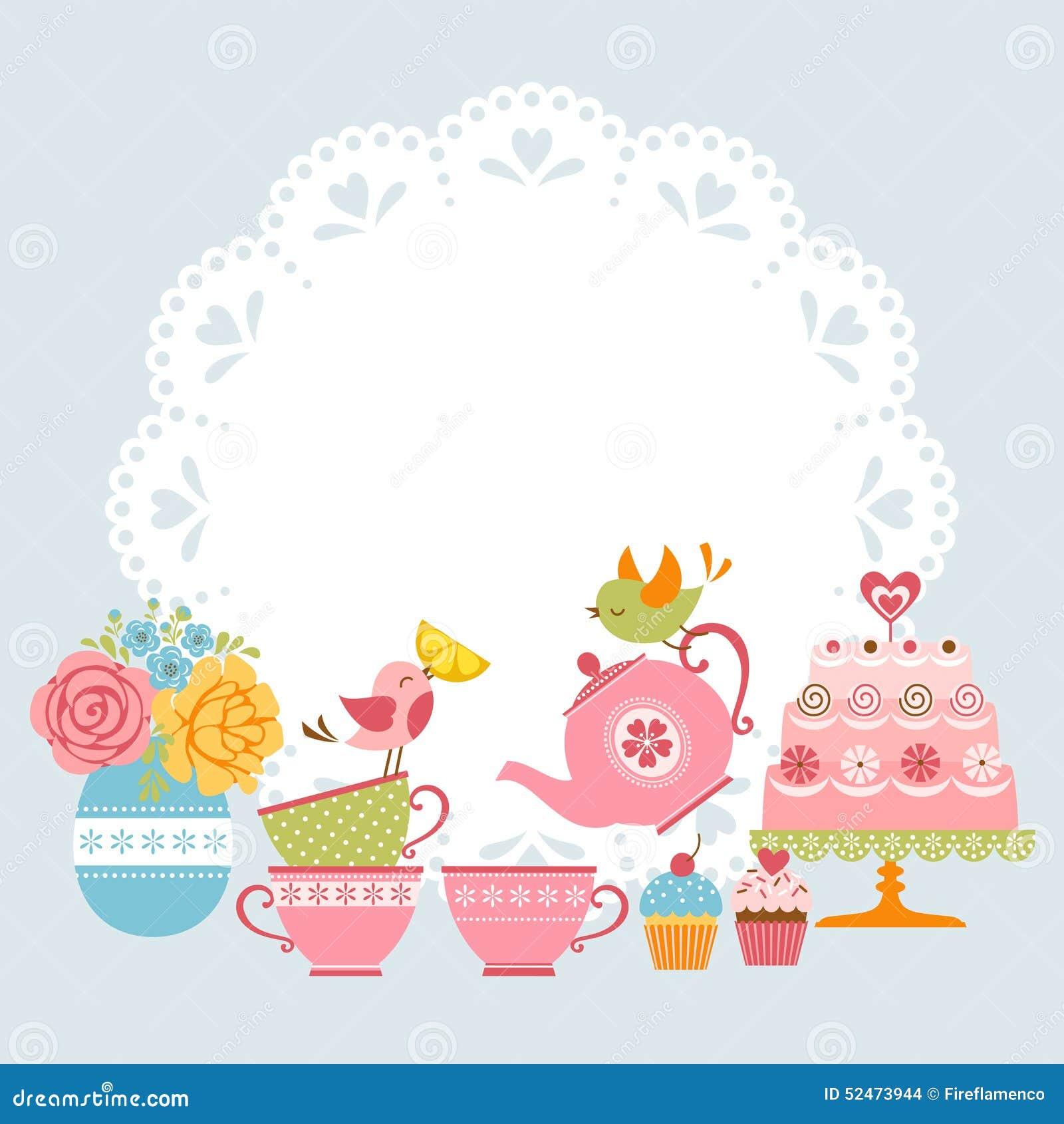 clipart tea party invitation - photo #28