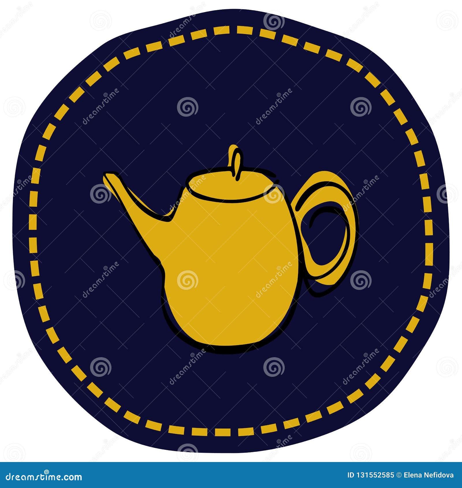 Tea Pot Simple Line Icon Vector Illustration Stock Vector ...