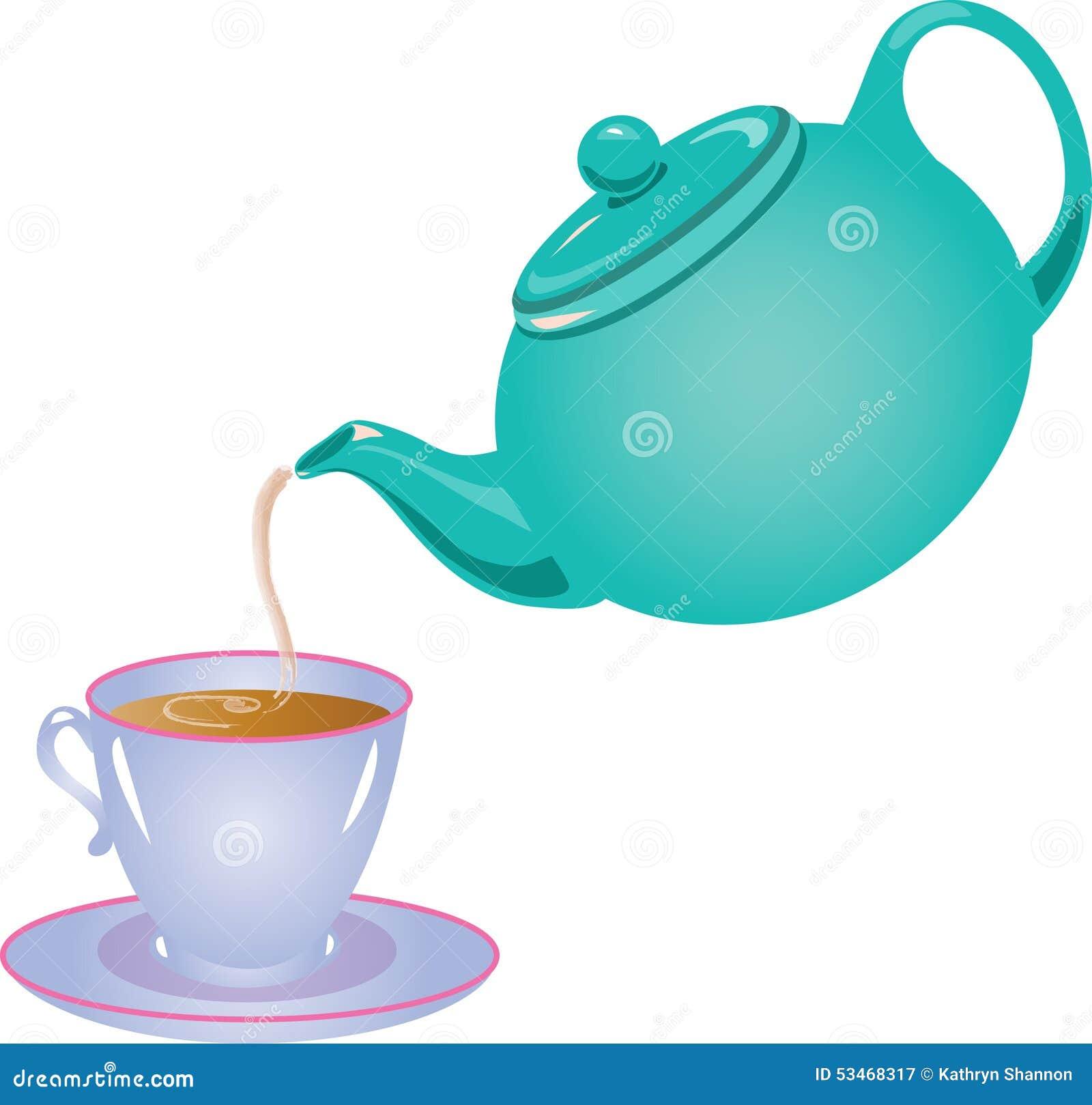 Tea Pot Pouring Tea Stock Vector Illustration Of Brew 53468317