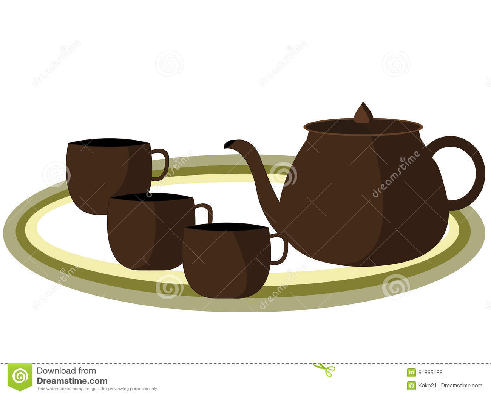 Tea Pot Stock Vector - Image: 61865188