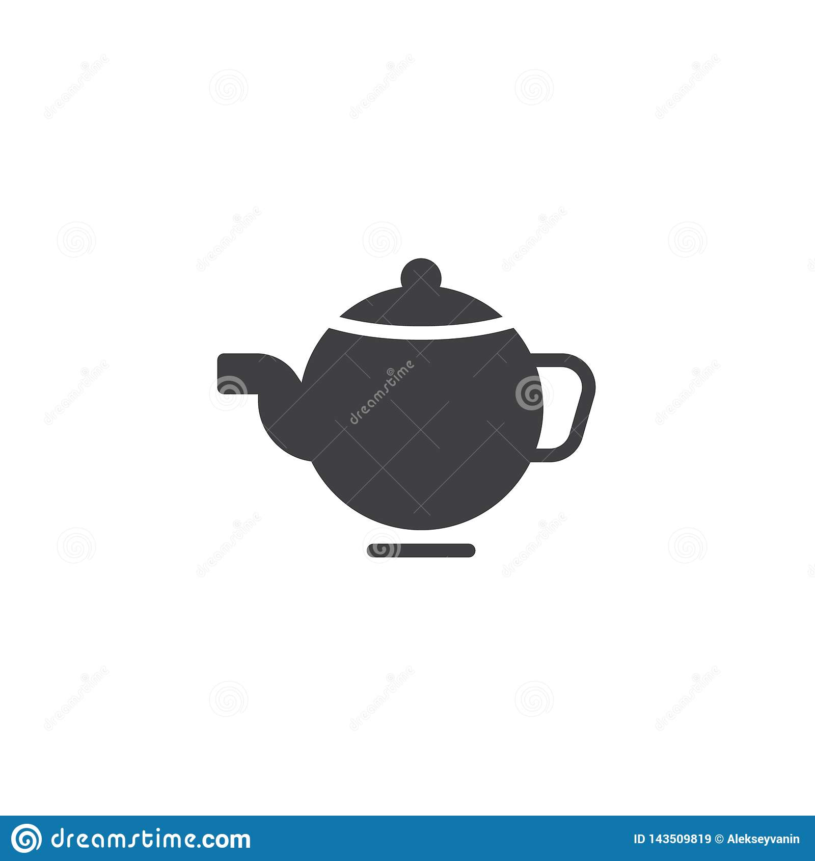 Tea pot vector icon stock vector. Illustration of graphics ...