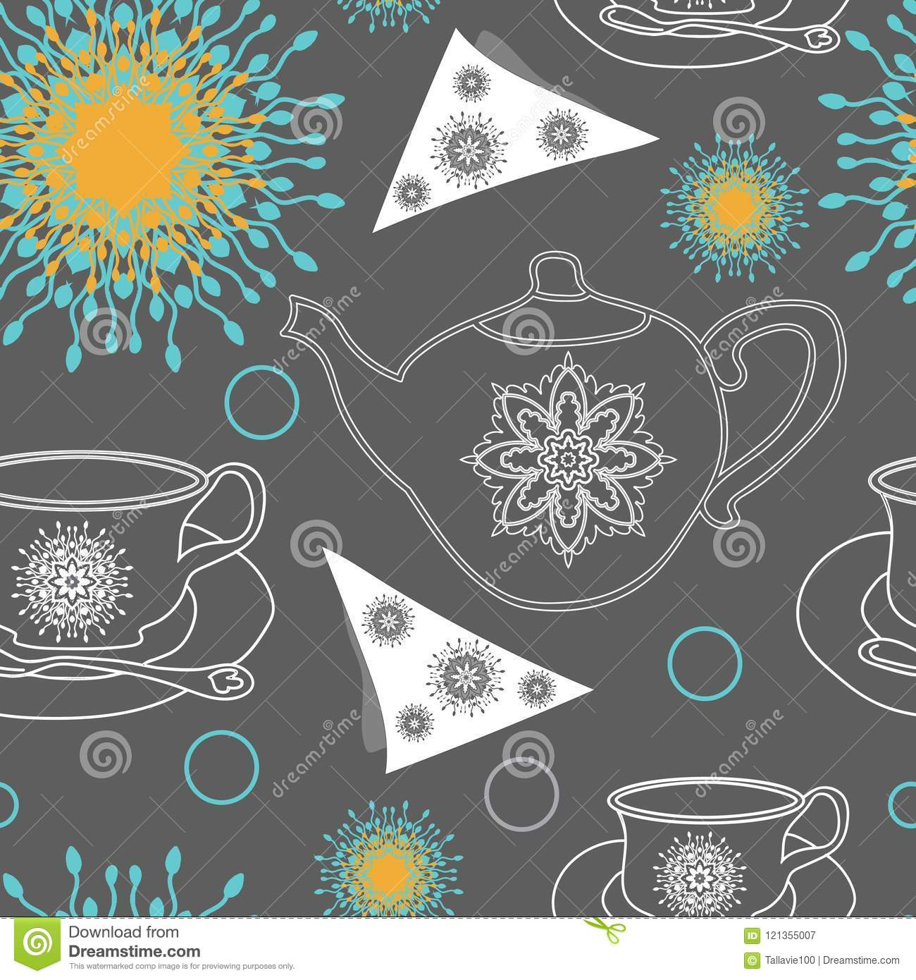 f35ff0429952 Tea Pots,Tea Cups,napkins and Lace Flowers -Garden Tea Party,Seamless  Repeat Pattern swatch. Pattern Background. Surface pattern Design in  pink,white and ...
