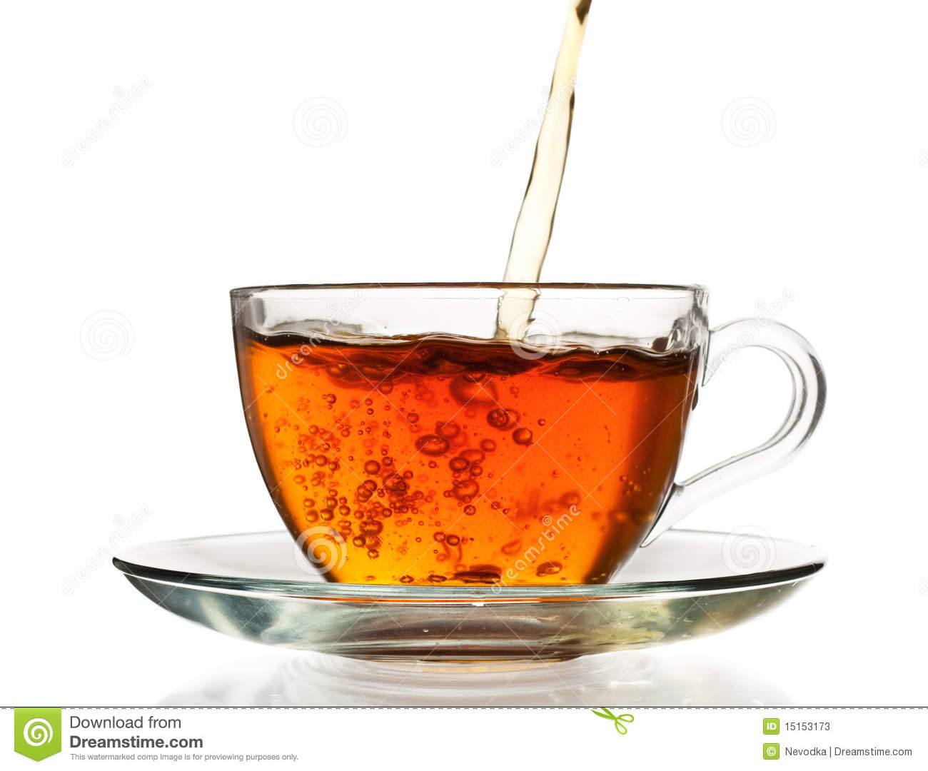 Tea Pouring In The Cup Stock Photos Image 15153173