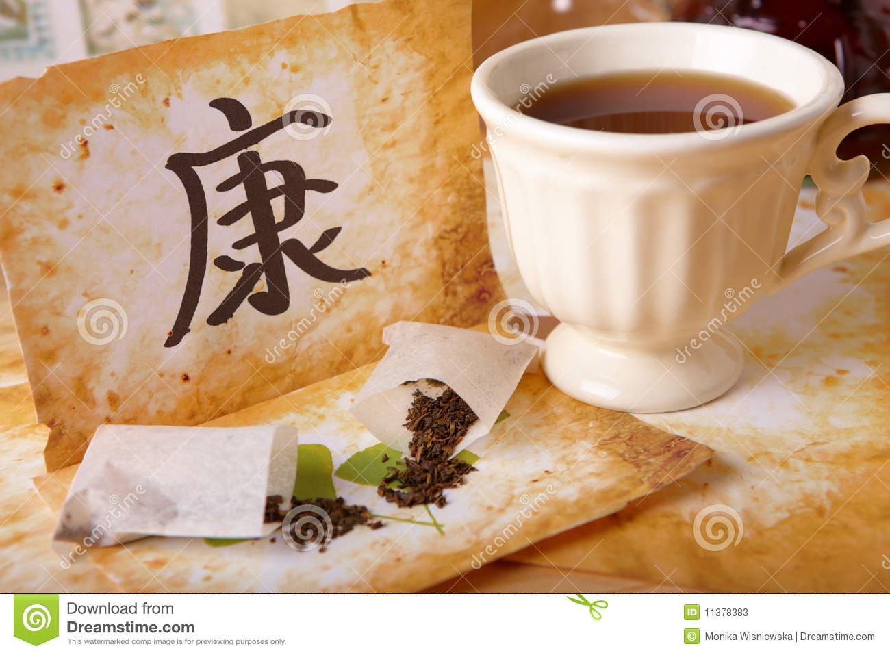 Tea scattered chinese health symbol and tea cup stock image tea scattered chinese health symbol and tea cup biocorpaavc Gallery