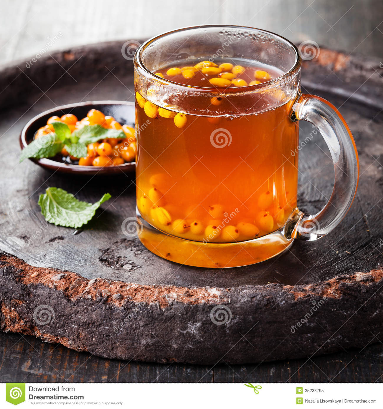 Tea with sea buckthorn