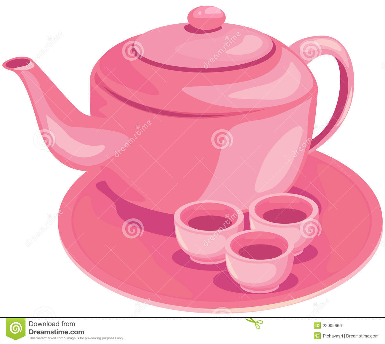 Tea Set Stock Vector Illustration Of Asia Chinese
