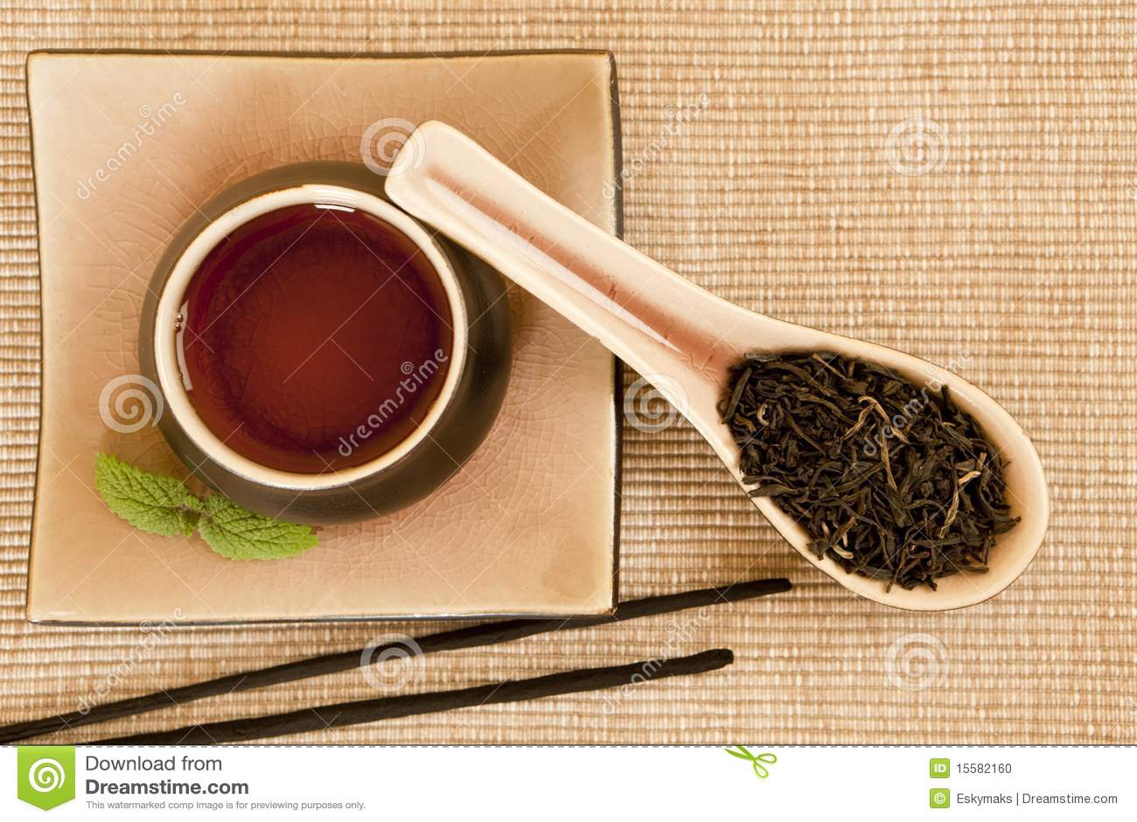 Tea still life.
