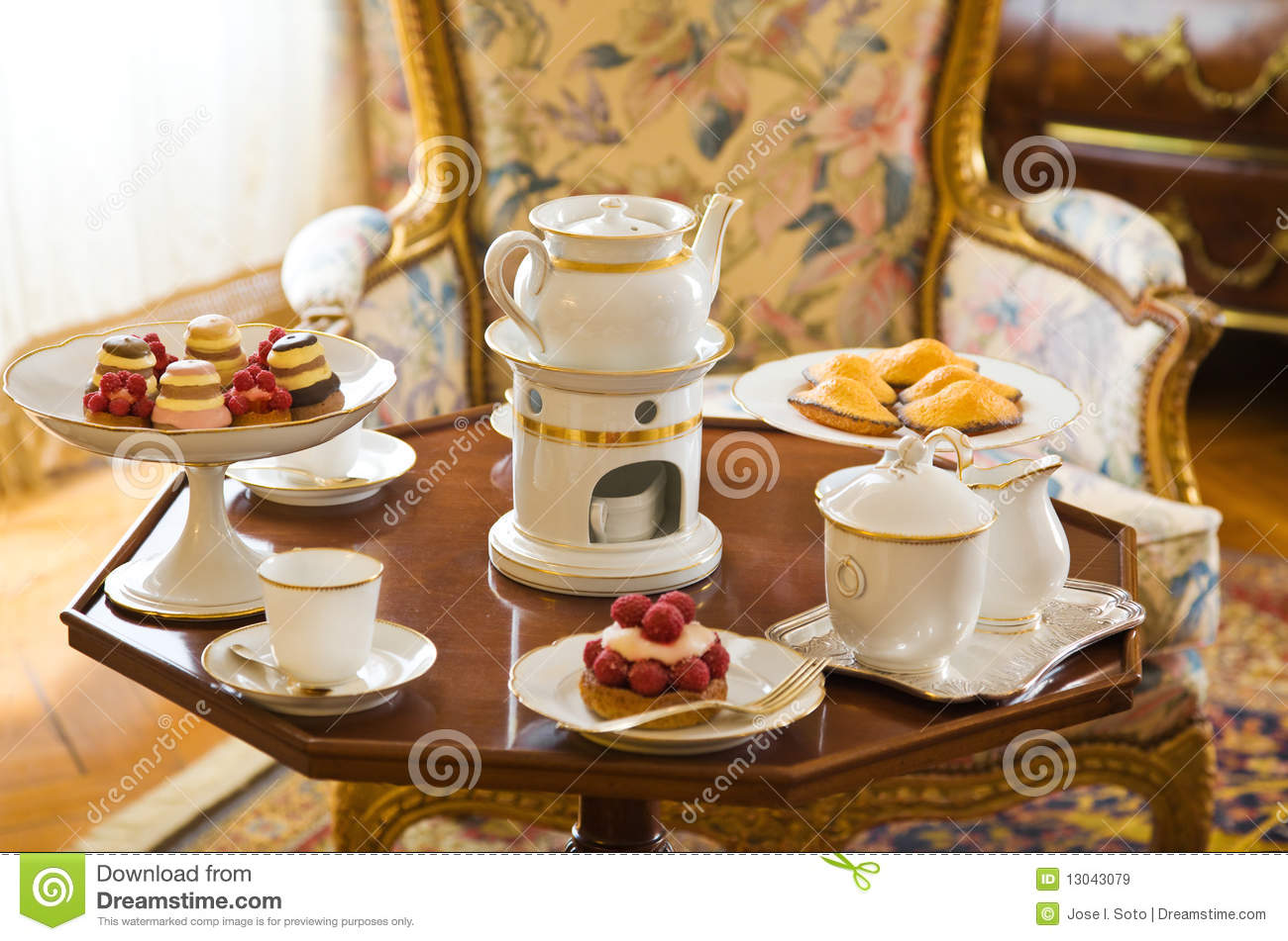 Tea Table Setting Stock Image Image Of Retro Porcelain