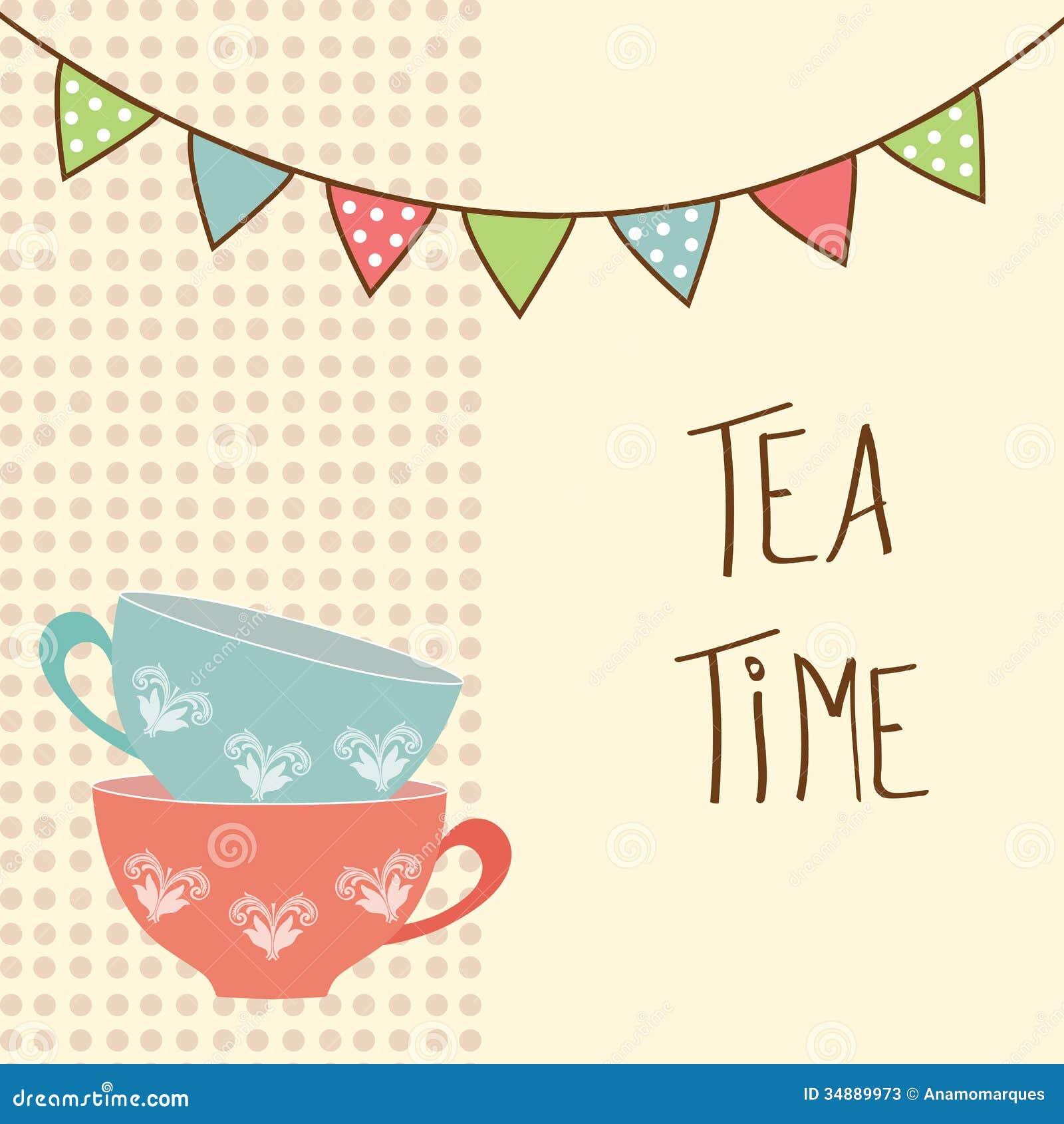 tea time stock photos image 34889973. Black Bedroom Furniture Sets. Home Design Ideas