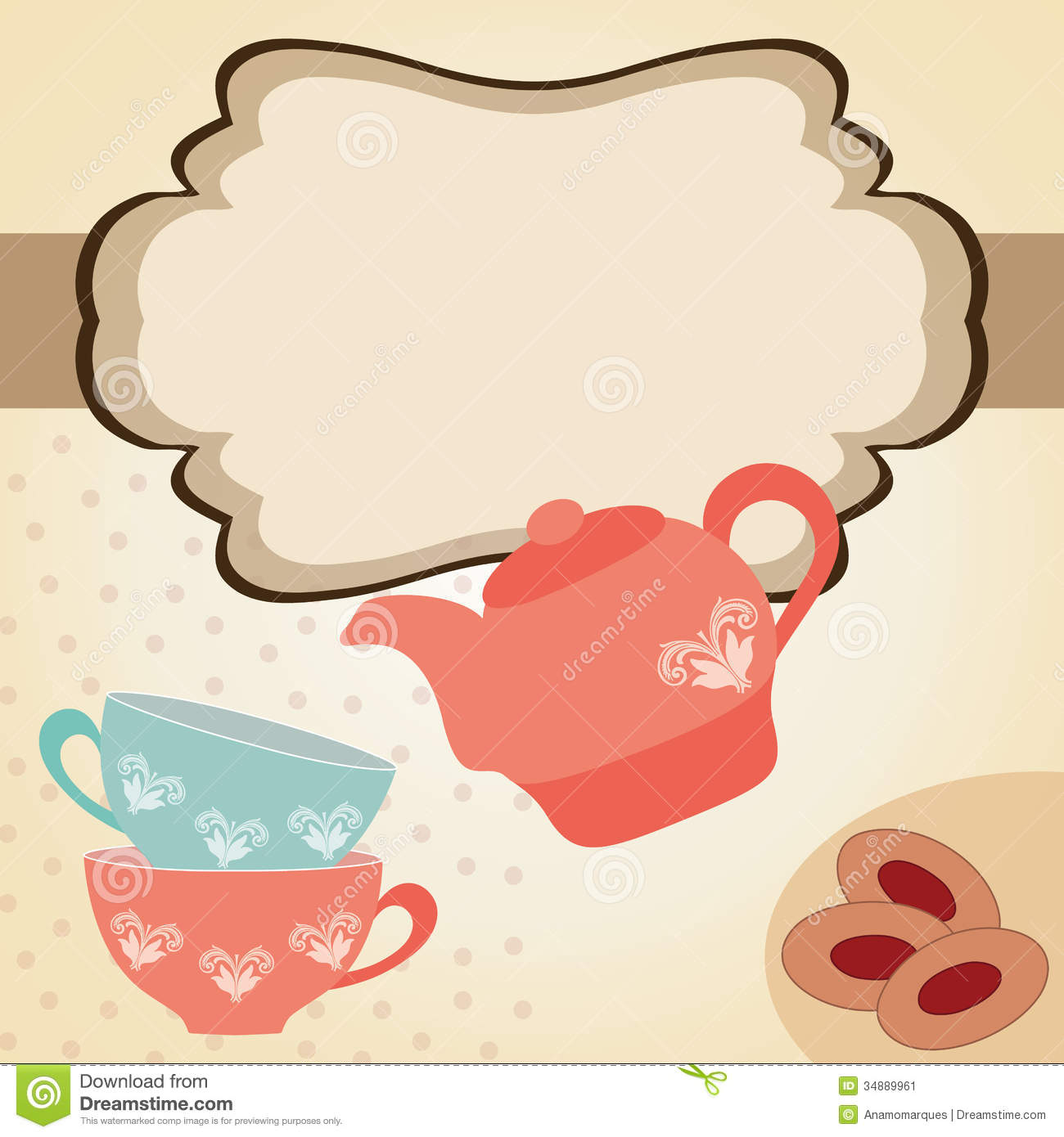 Tea Time Stock Image - Image: 34889961