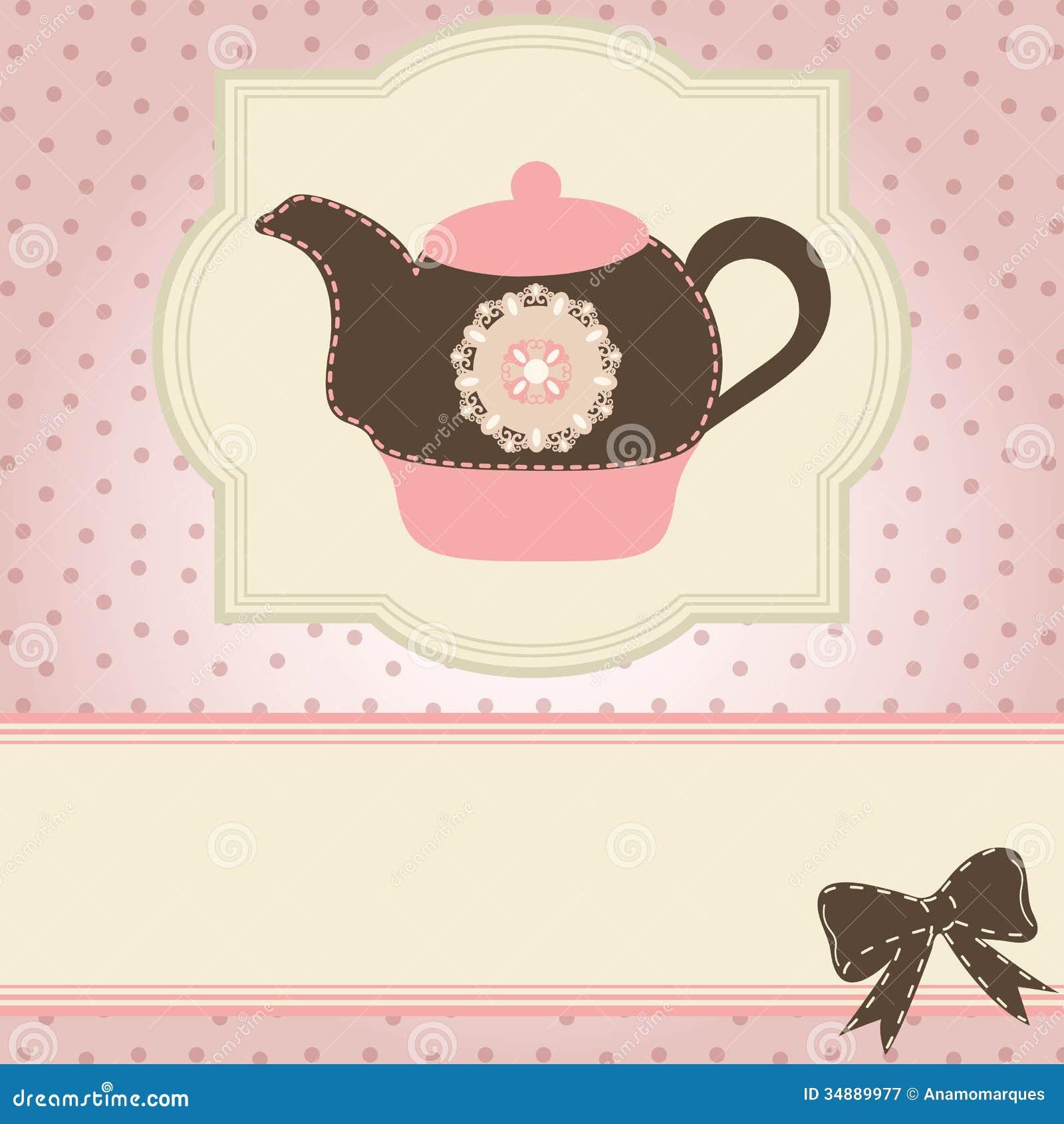 tea time stock vector illustration of coffee elegance 34889977. Black Bedroom Furniture Sets. Home Design Ideas