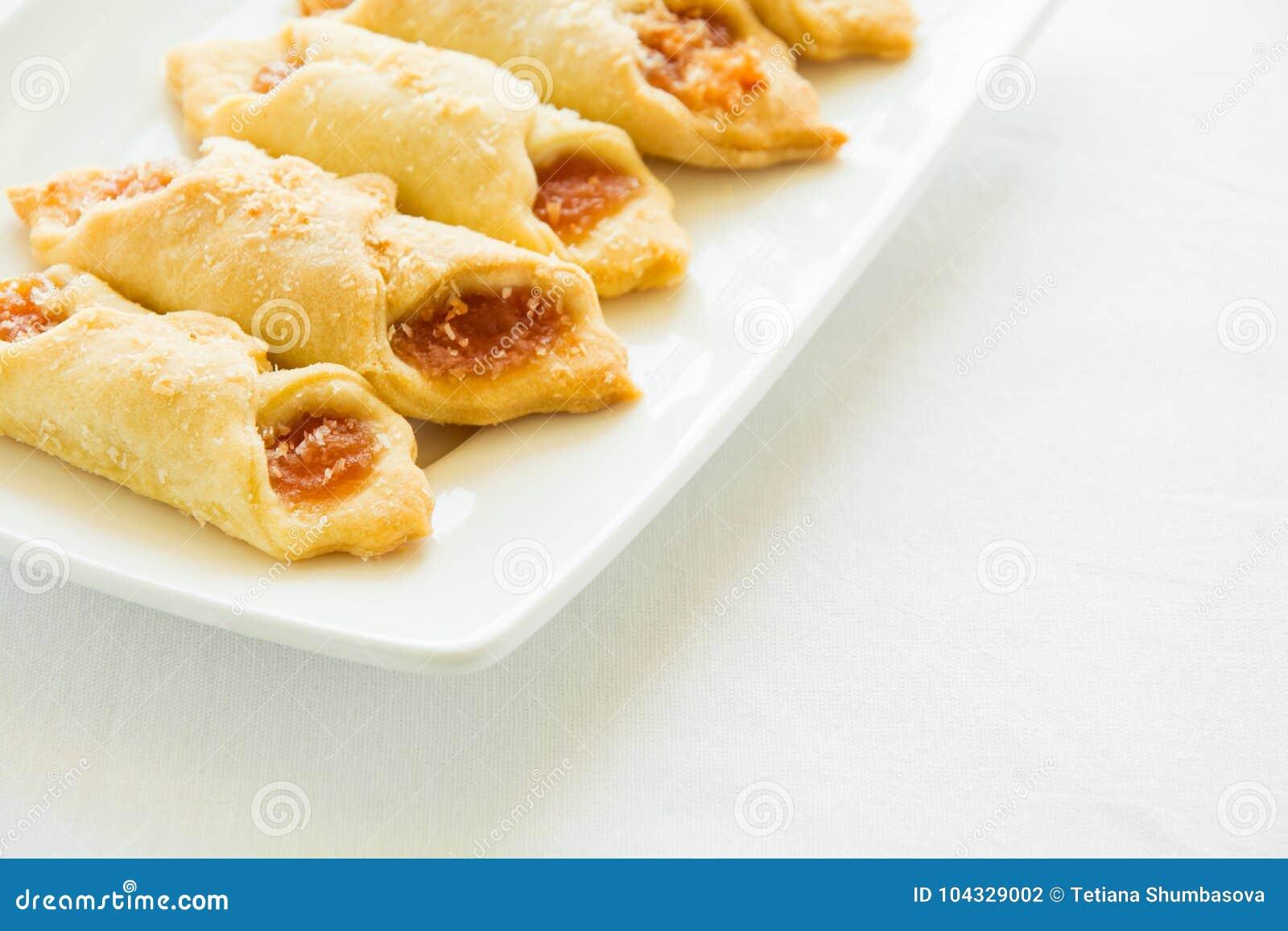 download tea time with polish cream cheese cookies kolacky with apple jam stock photo image - Kolacky Polish Christmas Cookies