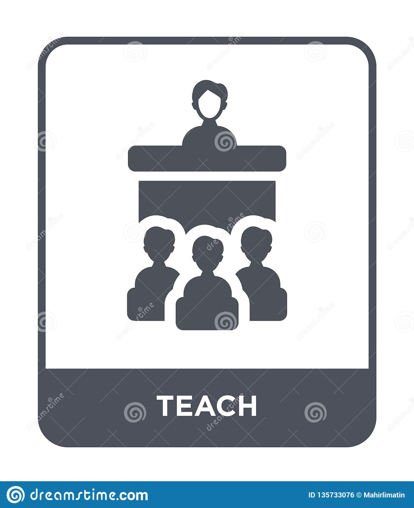 teach icon in trendy design style. teach icon isolated on white background. teach vector icon simple and modern flat symbol for