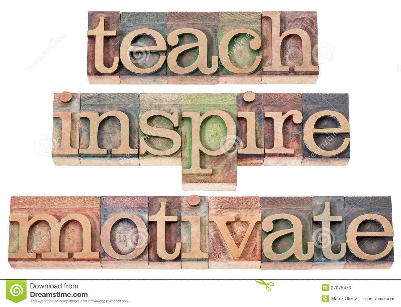 Teach Inspire Motivate Royalty Free Stock Image Image