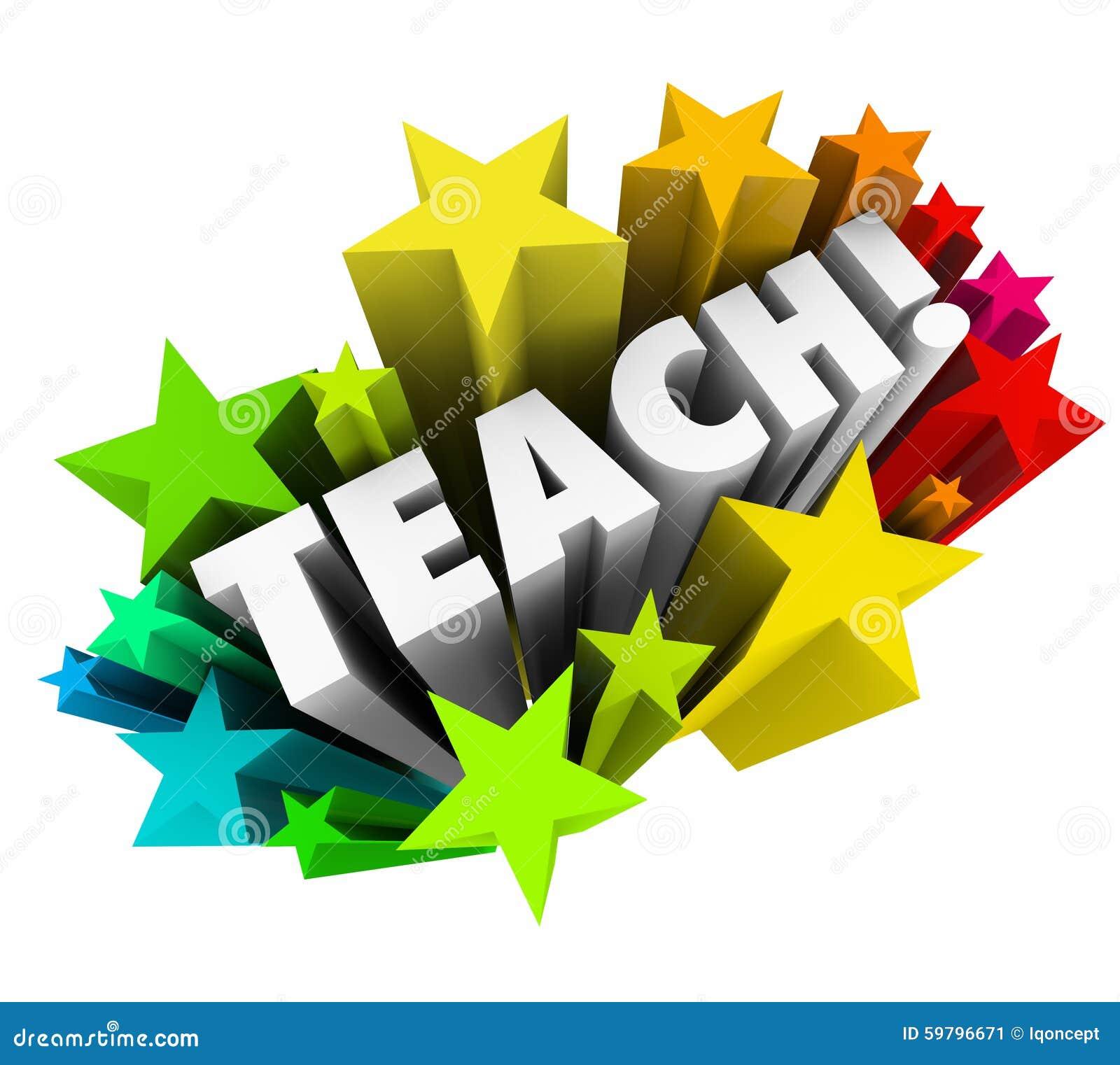 Teach Word Stars Learning Education School College ...