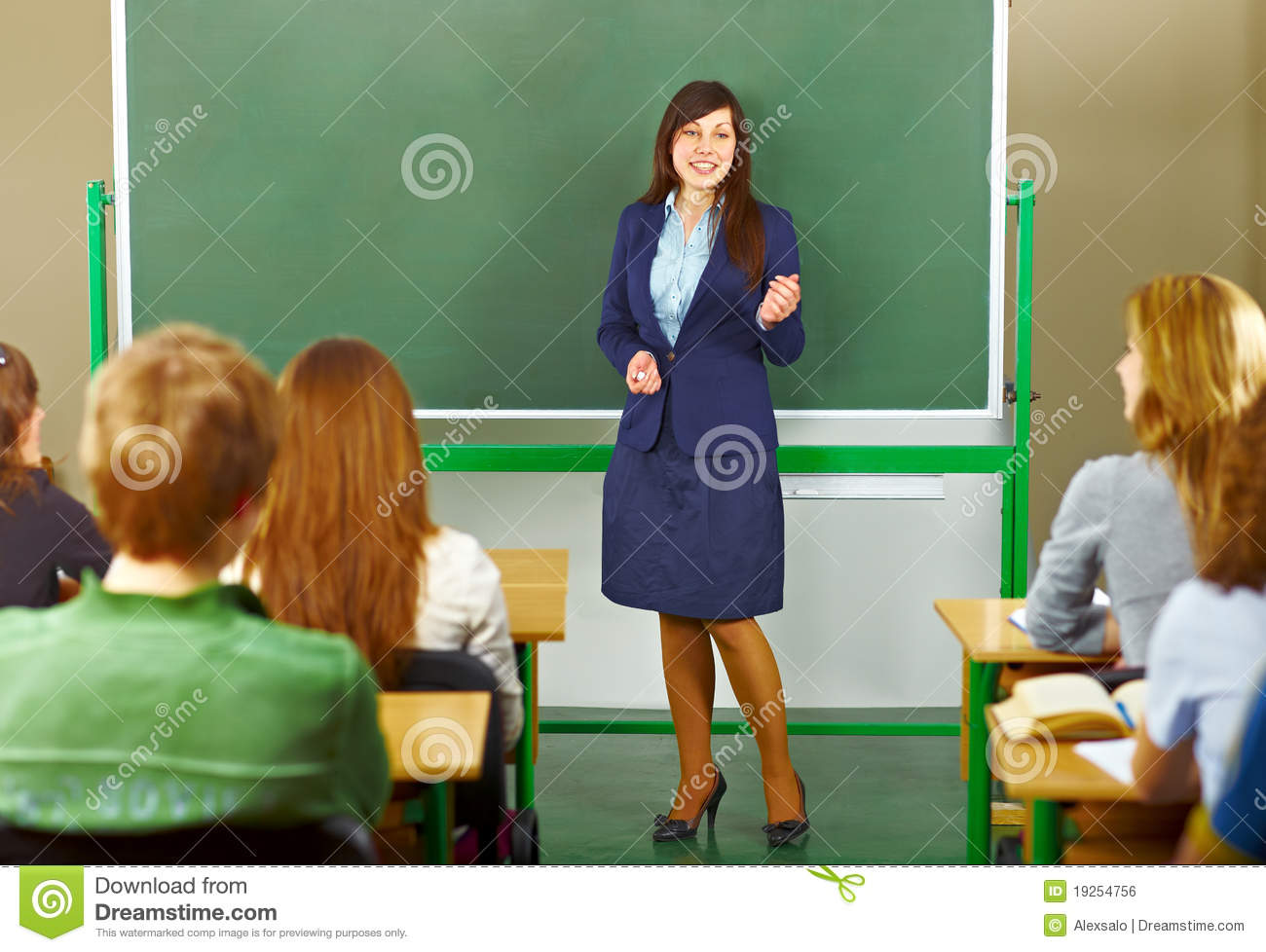 Teacher Giving A Lecture Stock Photo Image Of Classroom