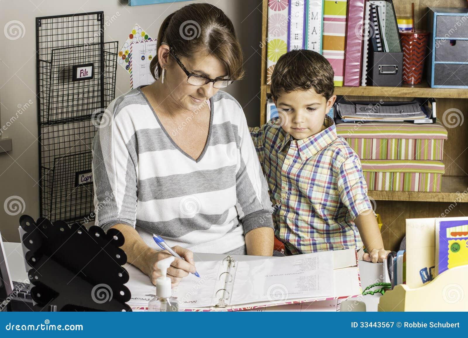 Ebony lesbian teacher and student