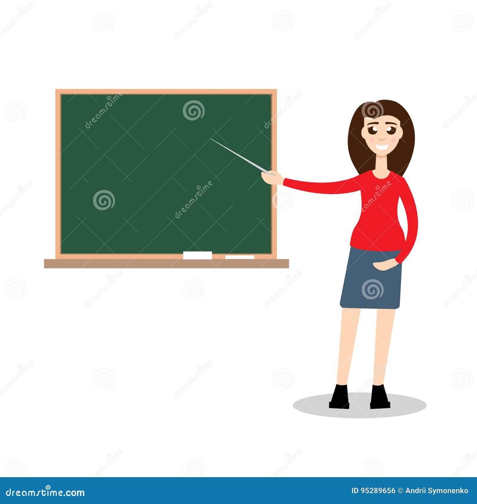 teacher on lesson vector illustration stock vector illustration