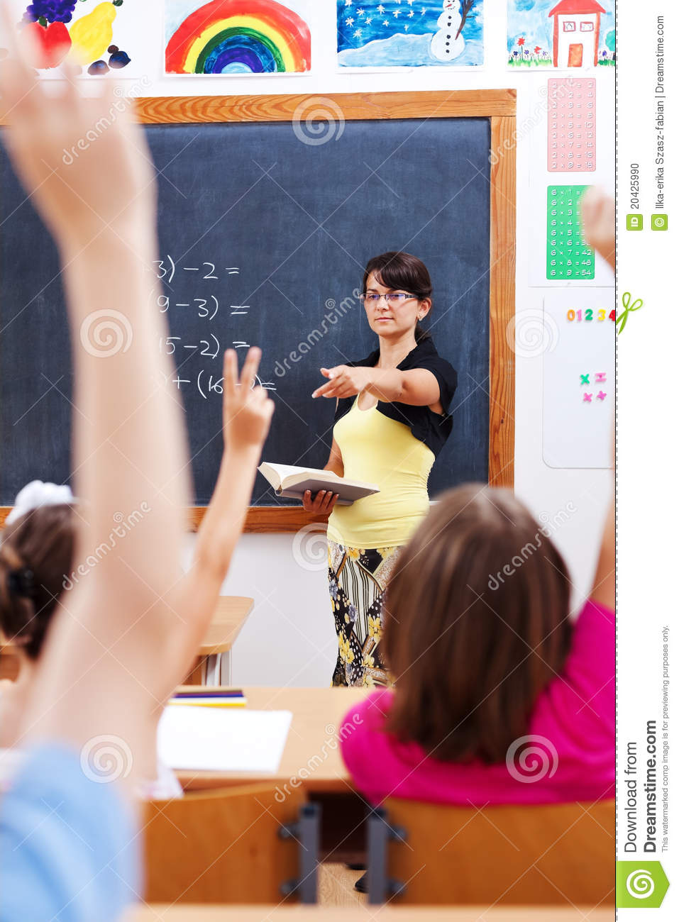Teacher Pointing At Students Stock Photo Image 20425990