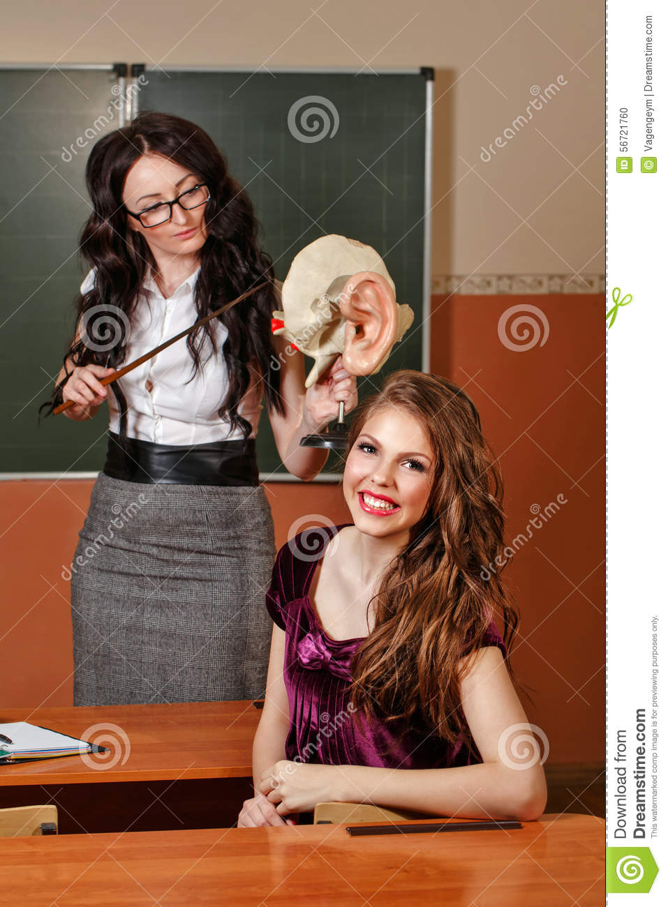Teacher And Pupil In The Anatomy Lesson. Stock Photo - Image of ...
