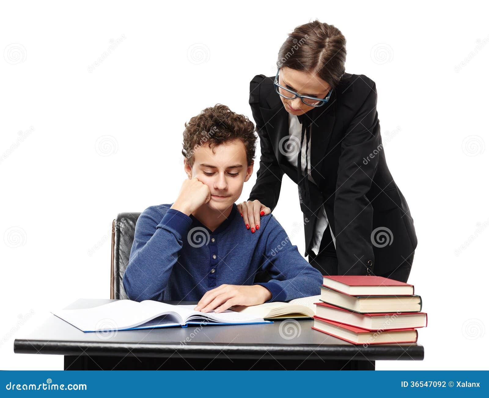 student homework desk