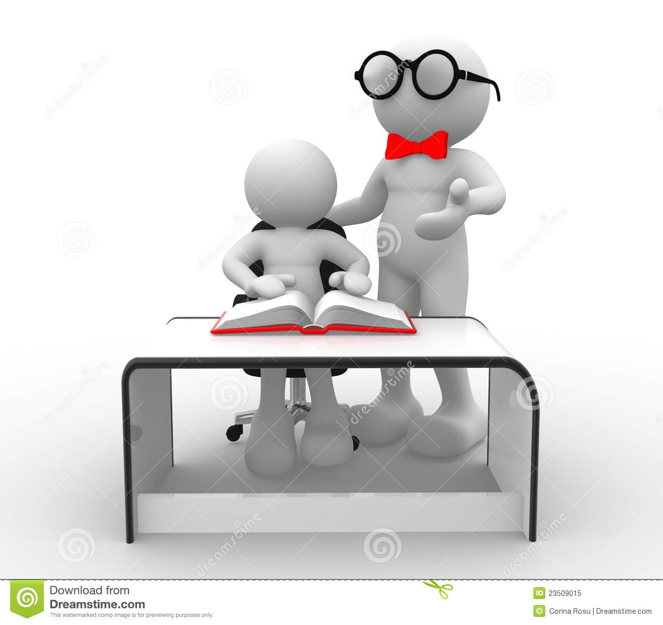 Book Icon Vector Male Student Or Teacher Person Profile: Teacher And Student Stock Illustration. Image Of Human