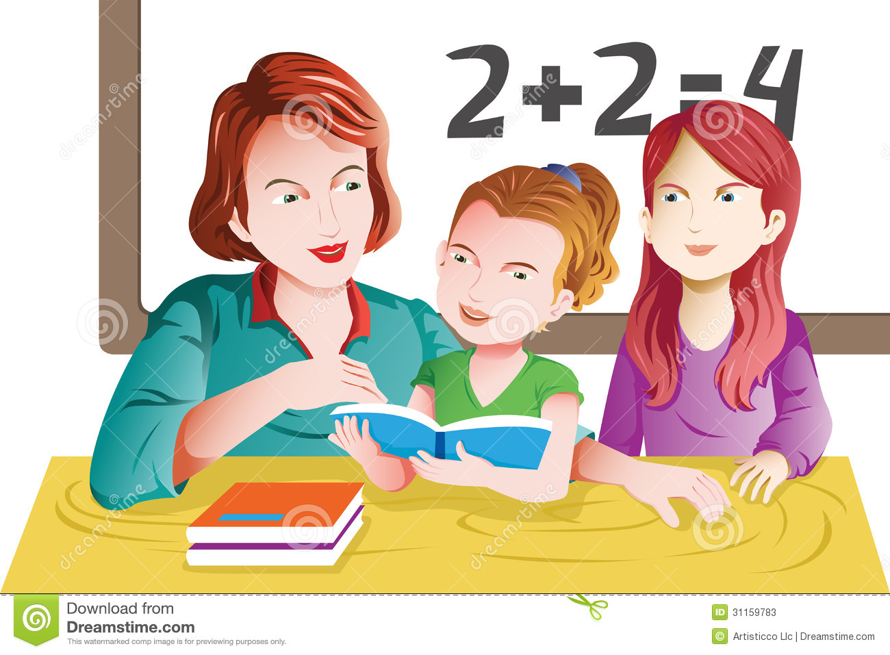Teacher And Student In The Classroom Stock Vector ...