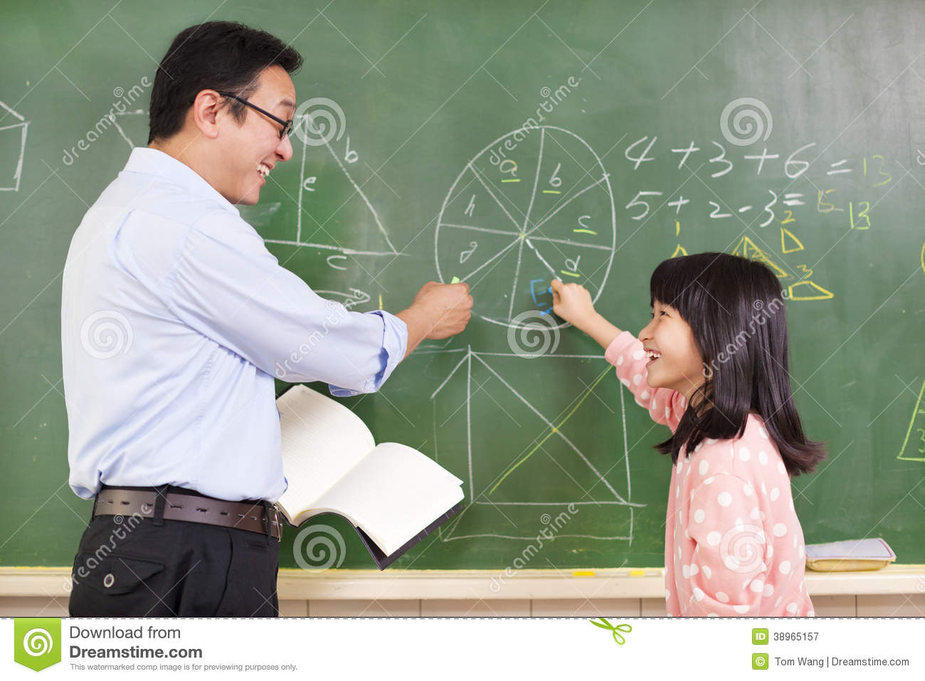 Teacher And Student Discussing Math Questions Stock Image - Image of ...