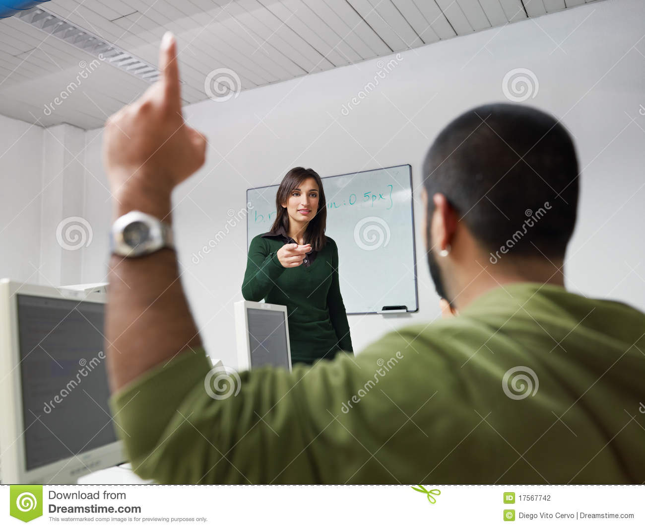 Teacher And Students In College Stock Photography - Image ...
