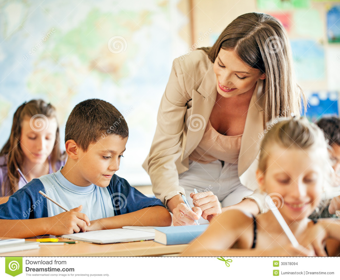 Teacher And Students Stock Images Image 30978094