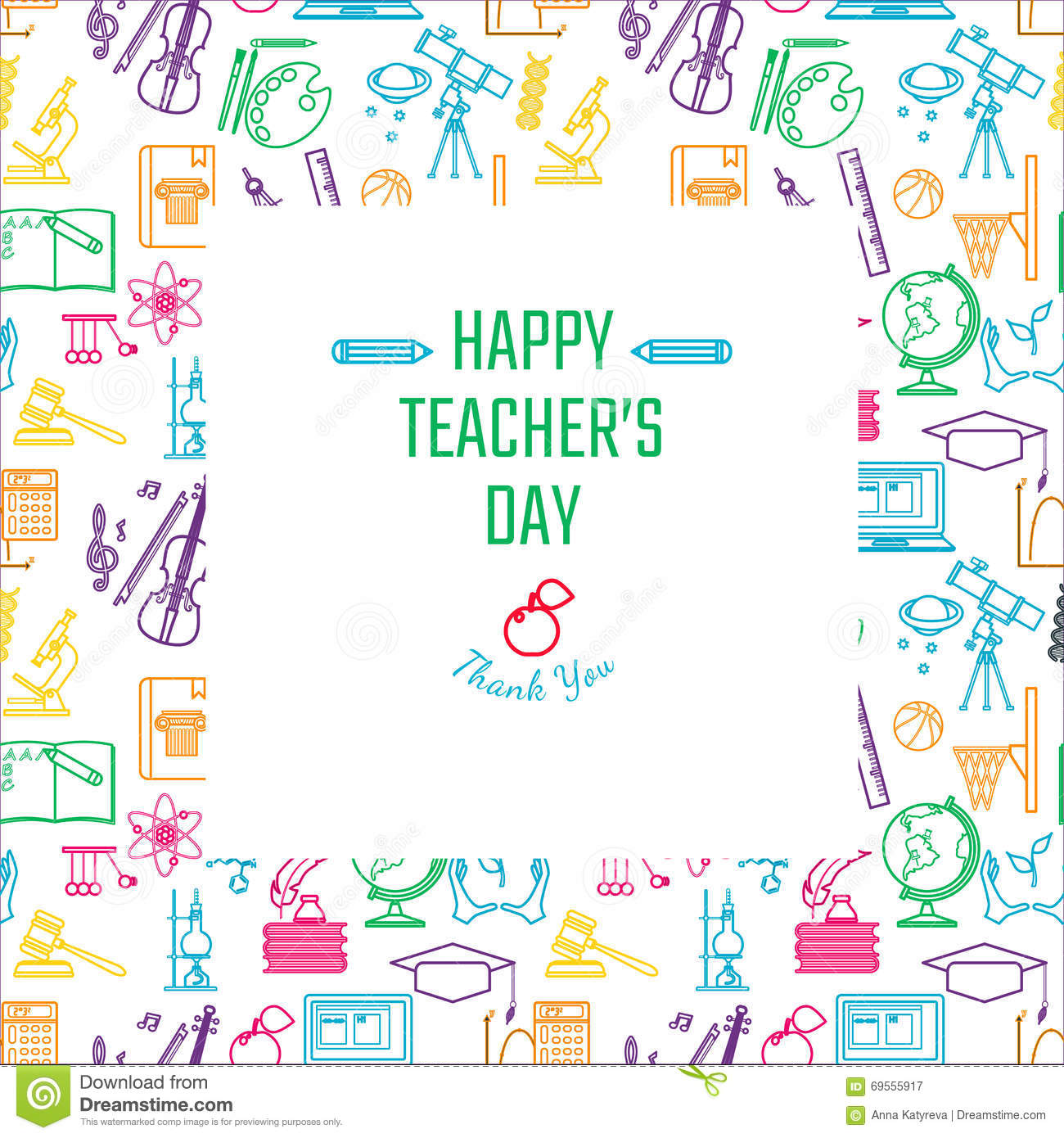 Teachers day holidays stock vector illustration of background download comp spiritdancerdesigns Choice Image