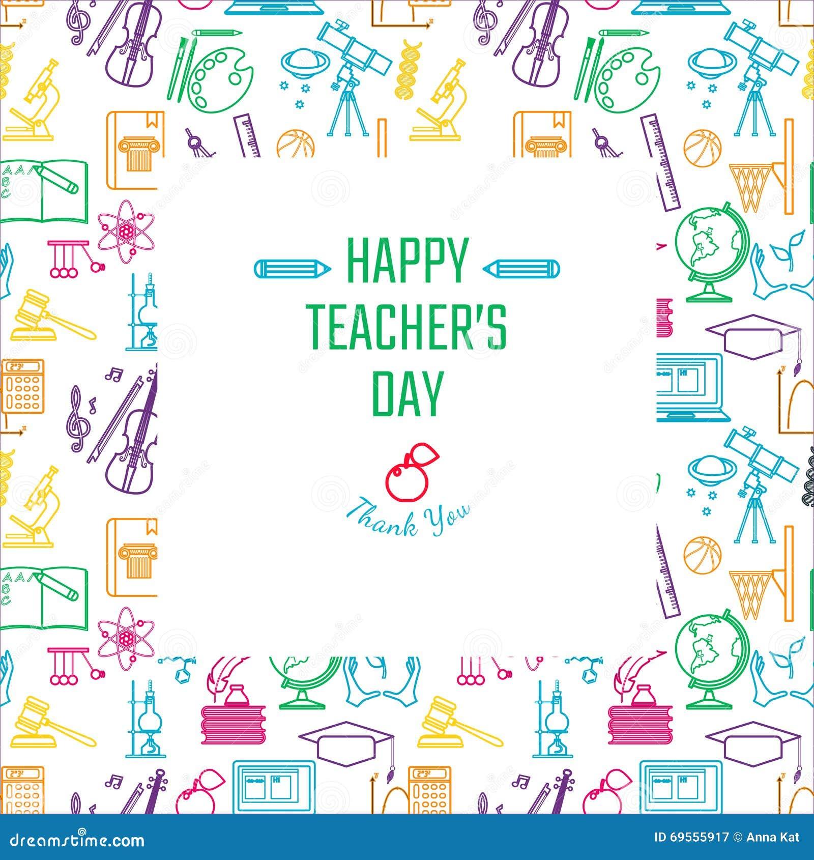 teachers day holidays stock vector illustration of